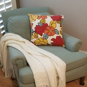 Pottery Barn ~ Down Pillow Insert and Floral Cover